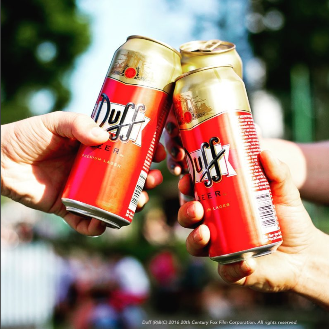 First official DUFF beer launch in Europe